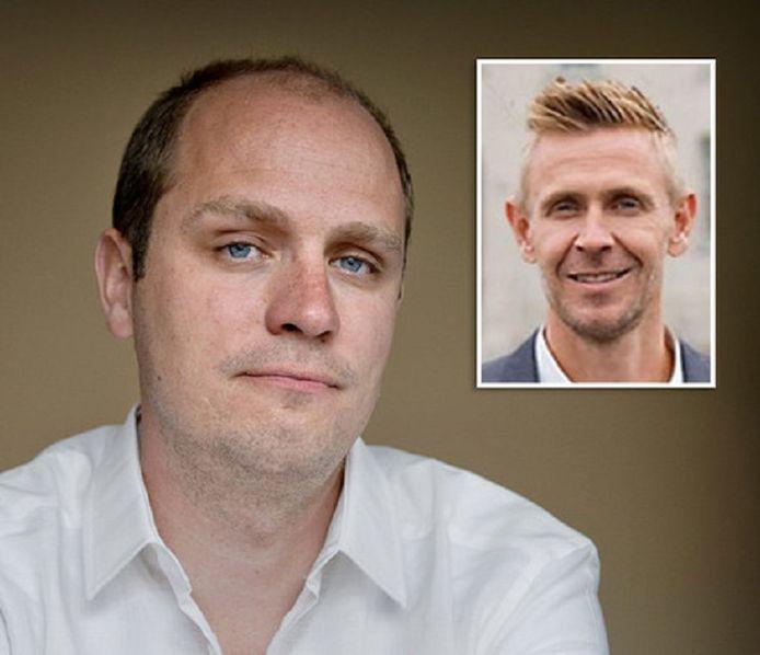 Jelle Brandt Corstius en zijn vermeende verkrachter Gijs van Dam.