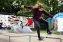Met het skatefeest willen de jongeren laten zien wat hun sport behelst.