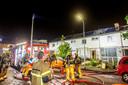 De hulpdiensten waren in de nacht van zondag op maandag in grote getallen aanwezig.