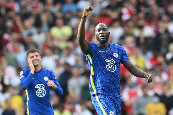 Romelu Lukaku maakte tegen Arsenal z'n allereerste goal voor Chelsea.