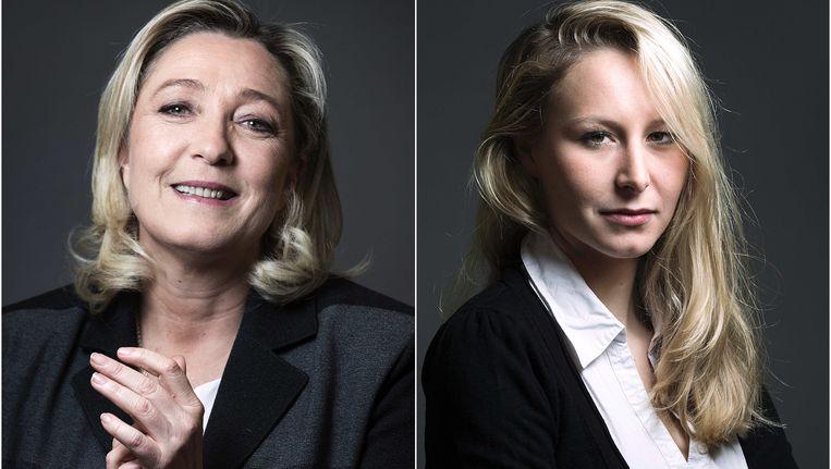 Marine en Marion Le Pen. Beeld AFP