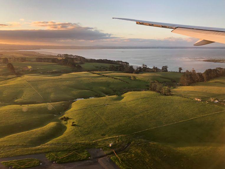 Landen in Nieuw-Zeeland. Beeld Sabine De Vos