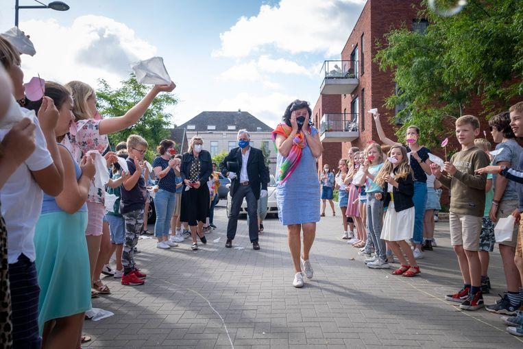 Basisschool De Krinkel in Ruisbroek neemt afscheid van juf Myriam