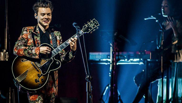 Harry Styles in actie in de Afas Live Beeld Paul Bergen