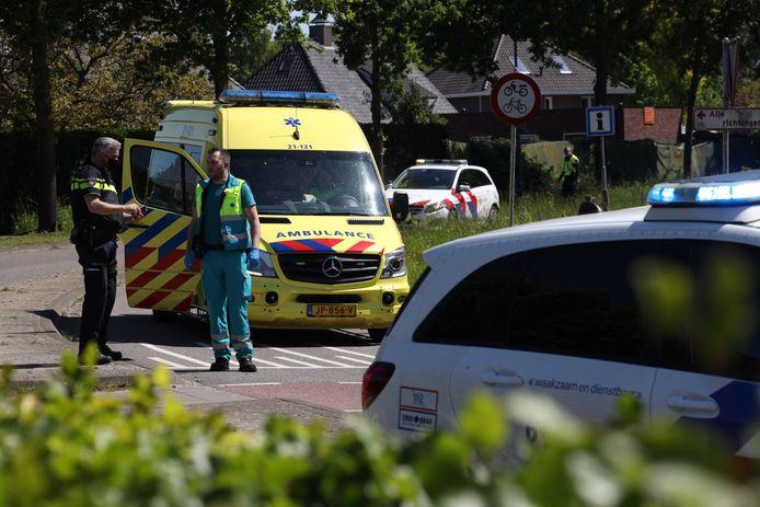 De man in de scootmobiel raakte gewond.