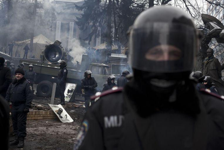 Oproerpolitie in Kiev. Beeld getty