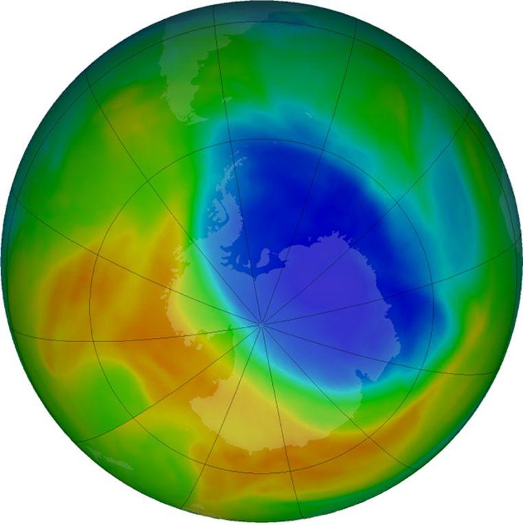 Het ozongat is dan wel geslonken, toch beslaat het nog steeds 19,6 miljoen vierkante kilometer.