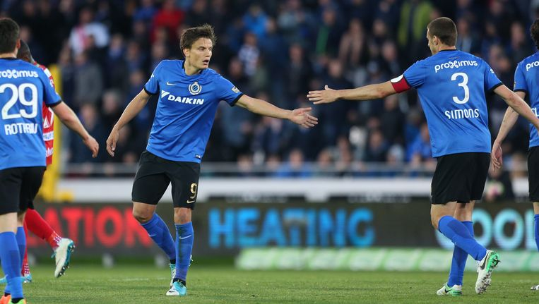 Charleroi en Club Brugge trappen 7e speeldag Play off I op