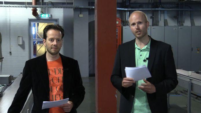 Maarten van Helvoirt en Geert Piek presenteren De Grote (Nieuws)quiz.