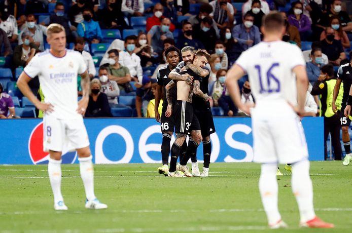 FC Sheriff Tiraspol viert de winnende treffer van Sébastien Thill tegen Real Madrid.