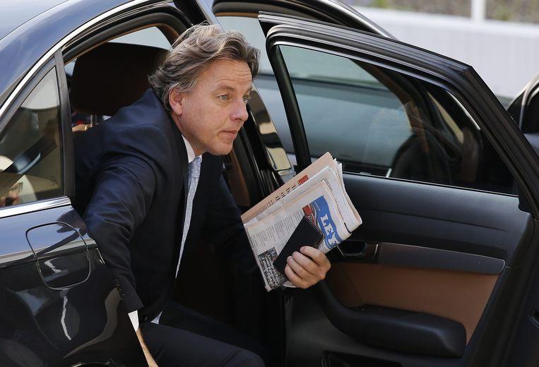 Bert Koenders arriveert in Luxemburg. Beeld epa