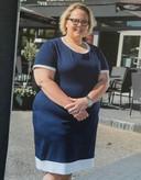 Arjanne Hameeteman een aantal jaren geleden, voordat ze 108 kilo afviel.