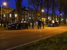 Auto's botsen na ruzie tegen elkaar, één bestuurder aangehouden