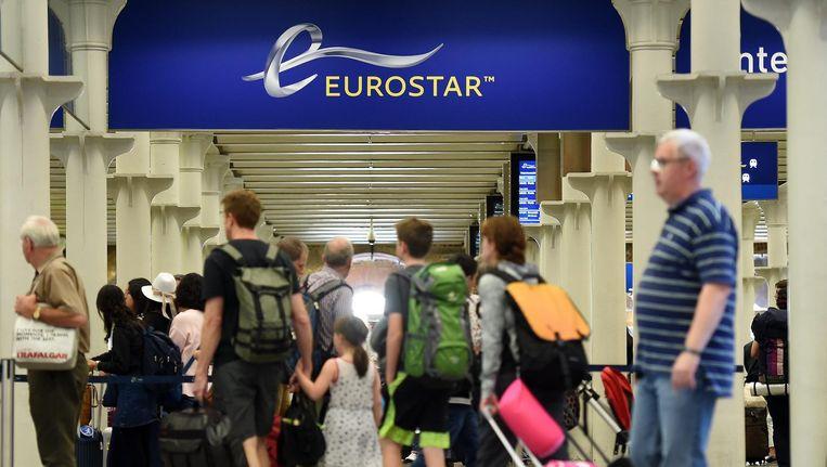 De Eurostar gaat voorlopig alleen van Londen naar Amsterdam over de hogesnelheidslijn. Beeld anp