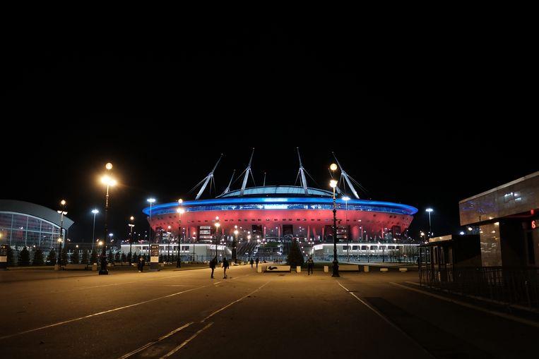 De Gazprom Arena, waar de Rode Duivels zaterdagavond tegen Rusland spelen.
