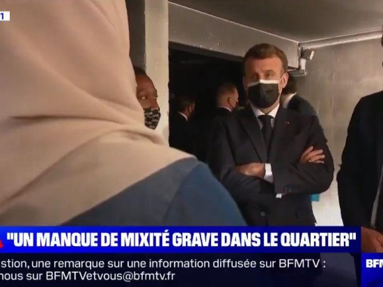 """Emmanuel Macron interpellé par une mère de famille sur la mixité: """"Mon fils m'a demandé si le prénom de Pierre existait vraiment"""""""