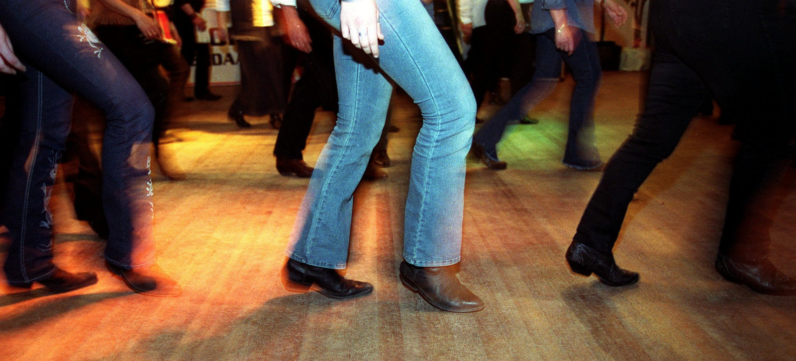 Country line dancing.
