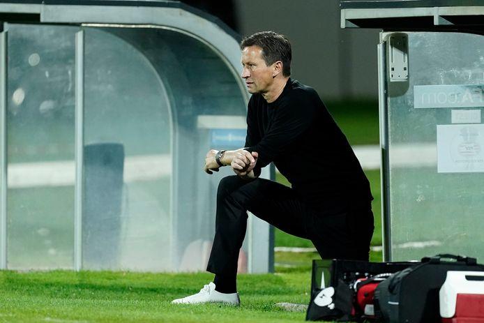 Roger Schmidt tijdens NS Mura-PSV.