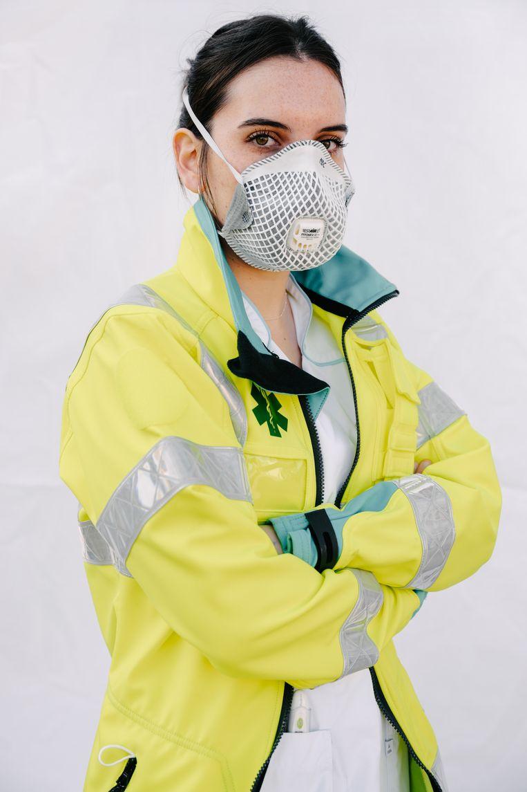 Een spoedverpleegkundige in het AZ Zeno Knokke. Beeld Damon De Backer