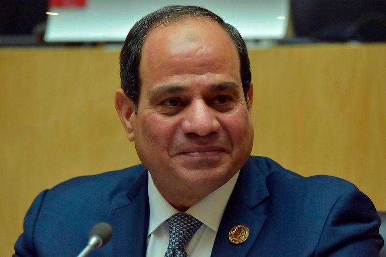 Egyptisch president Abdel Fattah al-Sisi. Beeld AFP