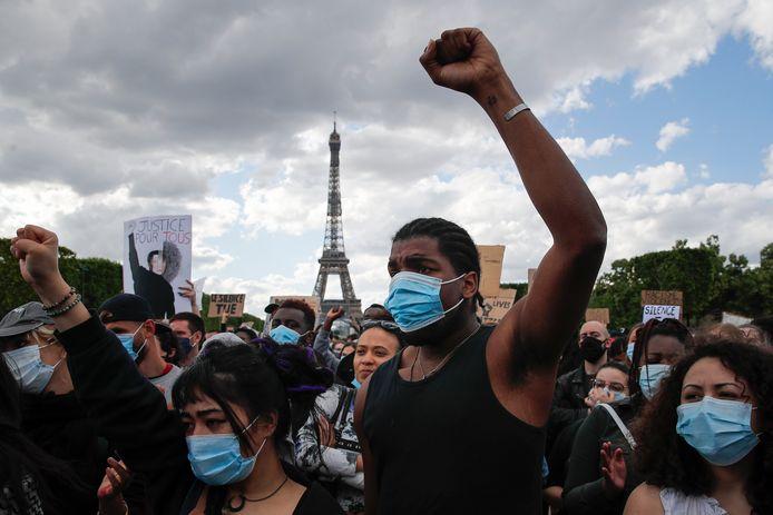 Demonstranten in Parijs.