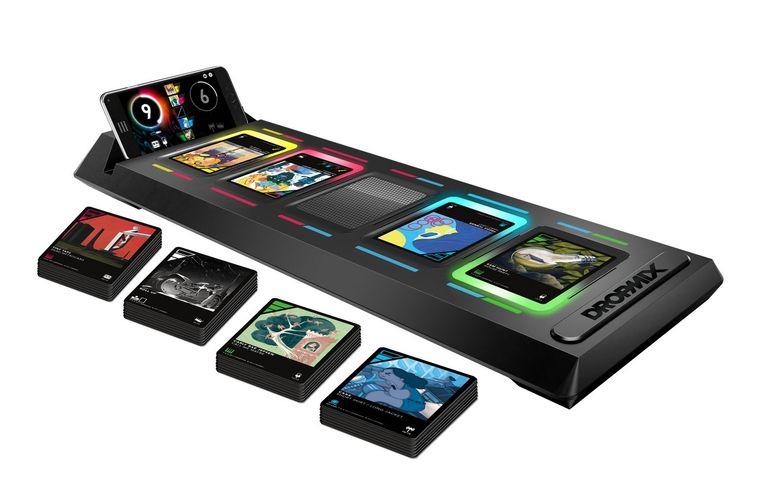 Het speelbord van 'Dropmix'. Beeld Harmonix