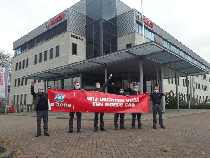 Medewerkers van technologiebedrijf Bosch in Deventer starten een actie tegen overwerken.