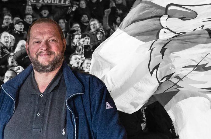 Freddy Eikelboom, voorzitter van de Supportersclub PEC Zwolle, is niet te spreken over het besluit van de KNVB.