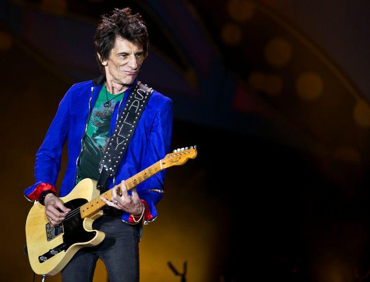 Rolling Stones-gitarist Ron Wood onderging een operatie voor longkanker. Beeld AP
