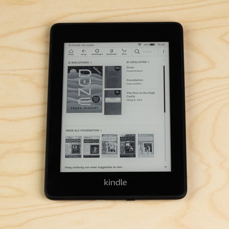 De Kindle PaperWhite.