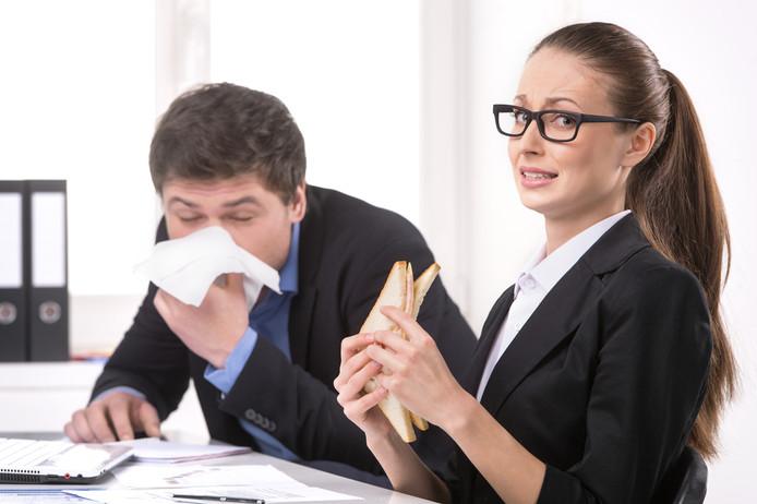 Foto ter illustratie. Hoe schoon is jouw werkplek?