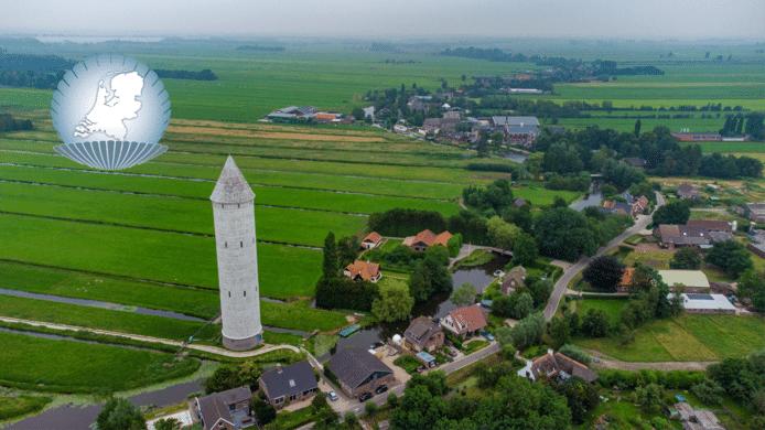 Pietje Potlood, de watertoren in De Meije.