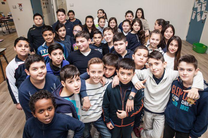 Het vijfde leerjaar van de Sint-Salvatorschool in Gent is een smeltcroes van culturen.