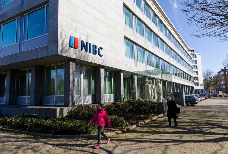 Exterieur van het hoofdkantoor van de Haagse zakenbank NIBC. Beeld ANP, Bart Maat