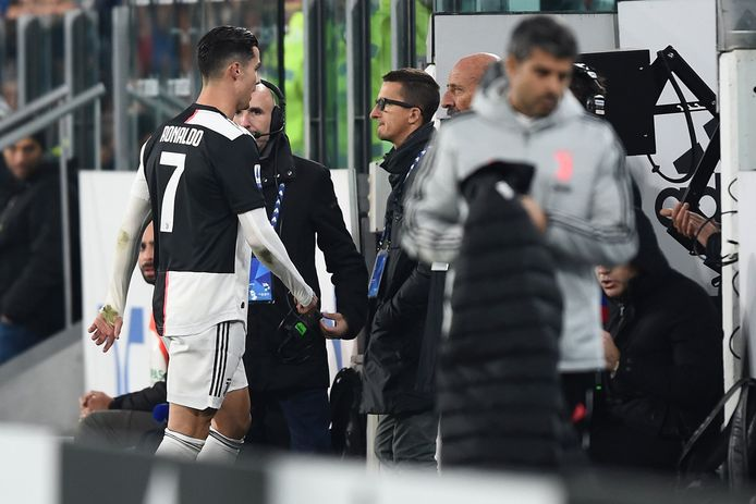 Cristiano Ronaldo FOOTBALL : Juventus Turin Vs AC Milan - Serie A - 10/11/2019 © PanoramiC ! only BELGIUM !