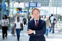 Tjalling Smit, directeur Commercie & Ontwikkeling in de Raad van Bestuur (RvB) van NS, in tijden dat het nog druk was op het station.