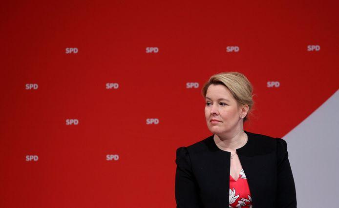 De voormalige Duitse minister van Familiezaken Franziska Giffey (Sociaaldemocratische Partij).