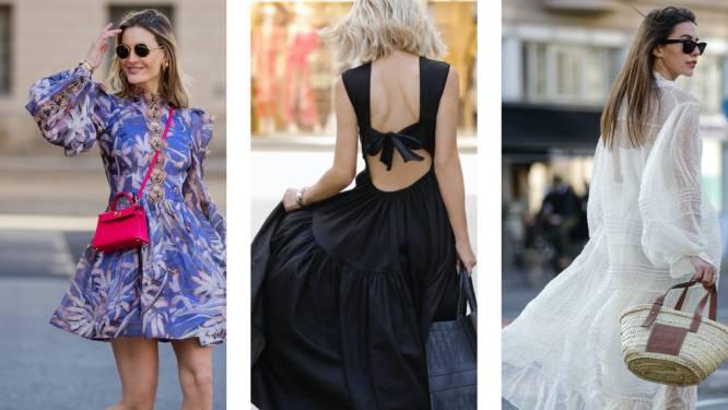 De 8 jurkentrends die scoren dit voorjaar, van kort en zwierig tot sexy met een open rug