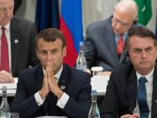 """Macron déplore les propos """"extraordinairement irrespectueux"""" de Bolsonaro à l'encontre de son épouse"""