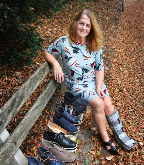 Yvonne kan links geen gewone schoenen meer dragen: 'Wie kan ik blij maken met m'n ongebruikte stuks?'