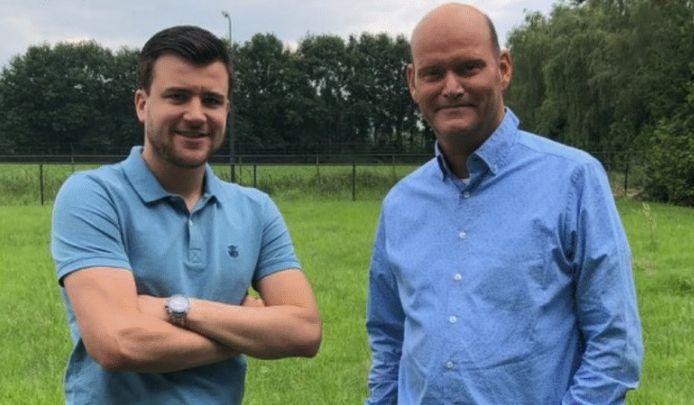 Sander Antonis (links) en Jos van Daele, respectievelijk fractievoorzitter en vice-fractievoorzitter van de Veldhovense VVD.