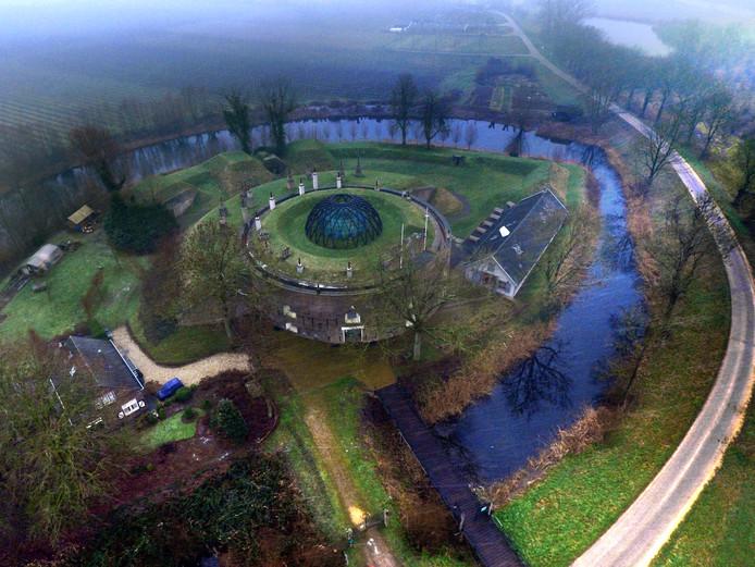 Fort Asperen, dat deel uitmaakt van de Nieuwe Hollandse Waterlinie
