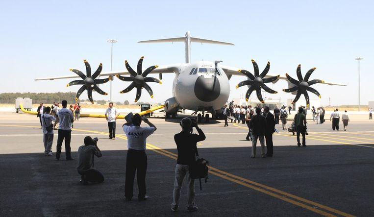 De airbus bij zijn officiële presentatie in juni in Sevilla. Beeld UNKNOWN