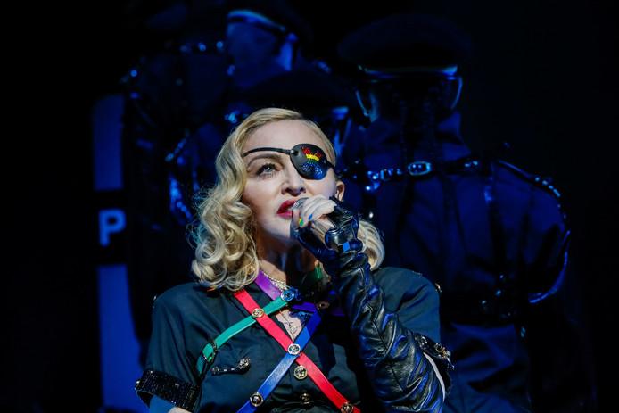 Madonna au concert de la gay pride à New York, le 30 juin 2019.