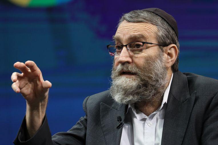 De leider van de Verenigde Torah Partij, Moshe Gafni.  Beeld EPA