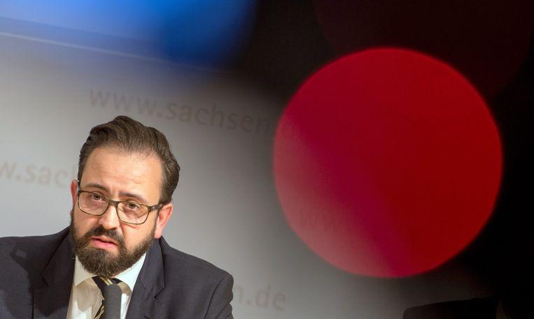 De Saksische minister van Justitie Sebastian Gemkow. Beeld EPA