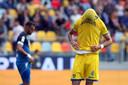 Rai Vloet baalt na de wedstrijd van Frosinone tegen Empoli.