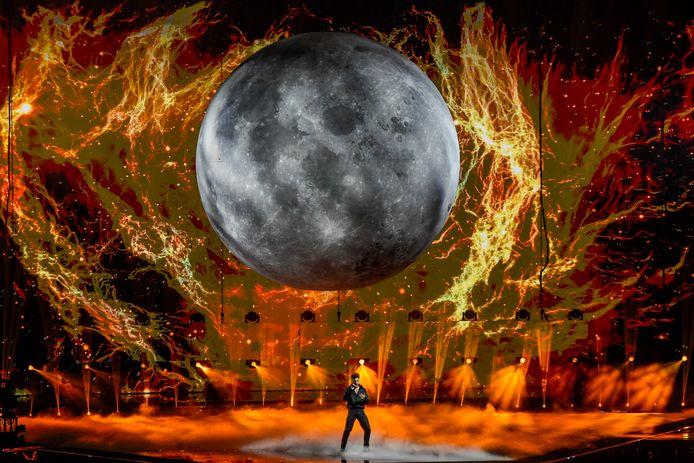 Spanje repeteert voor de grote finale van het songfestival.