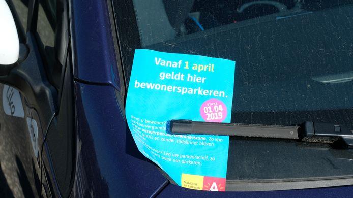 Vanaf 1 april wordt in grote delen van de 20ste eeuwse gordel het bewonersparkeren ingevoerd.