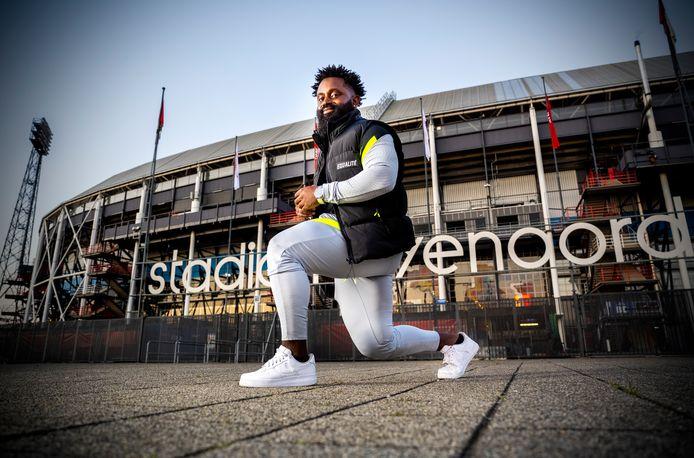 Danny Da Gracia begon zijn lunge-trainingen bij Feyenoordstadion De Kuip